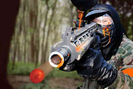 NPF Bassetts Pole - Paintball and Outdoor Activity Centre  Paintball Day with Nine Games, 100 Paintballs and Lunch for One - Save 68%
