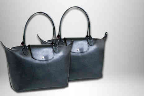 Suga Rush Love - Faux leather black or black patent tote bag - Save 75%
