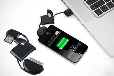 Shopper Gold - One Key Charger for iPhone 3, 4, 4s, or 5 or Android Smart Phone - Save 80%