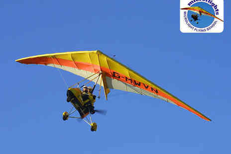 Microflights Flying School - Microlight Flying Lesson for One - Save 50%