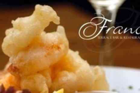 Franco's Terrace Bar & Restaurant - Two Courses of Italian Cuisine For Two - Save 63%