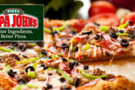 Papa Johns Pizzeria - Any Take Away Medium Speciality Pizza or Create your Own with 4 Toppings - Save 64%