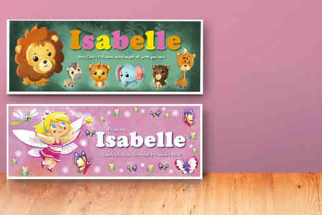 Frame My Name - Childrens personalised name print in a choice of designs - Save 72%