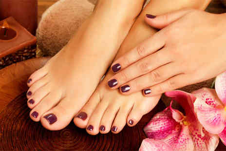 Fab Hair and Beauty - Shellac mani or pedi with a relaxing hand massage - Save 56%