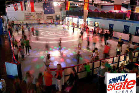 Simply Skate Arena - Two Roller Skate Entries Including Skate Hire, Hot Dog, and Drink - Save 60%