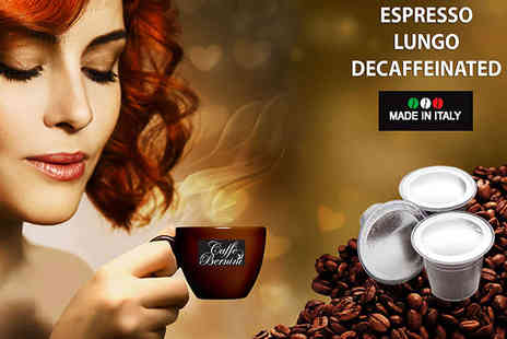 Dructer - 100 CAFFE BERNINI Nespresso-Compatible Coffee Capsules with Delivery Included - Save 58%