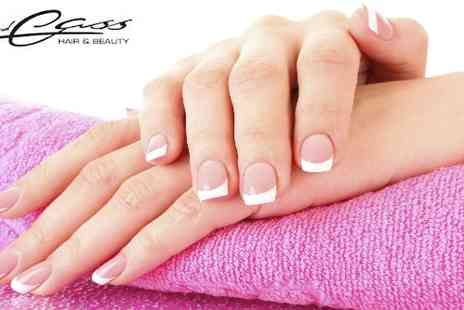 Jo and Cass Preston - Full set of Shellac nails or acrylic tips with overlays - Save 47%