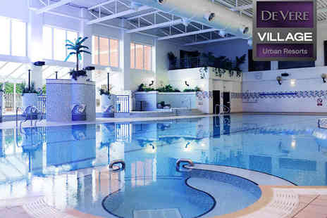 De Vere Village Urban Resort Hotel - Spa Day with Bubbly 85 minute ESPA Holistic Facial Back and Scalp Treatment Full use of Facilities, Hot Drink and Cookie for One - Save 53%