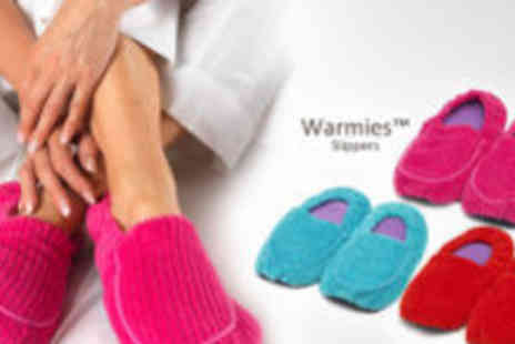 Intelex Ltd - Two pairs of Warmies Microwavable Slippers - Save 62%