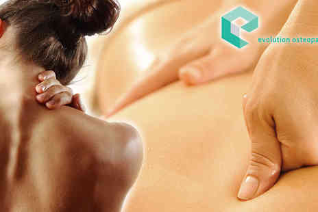 Evolution Osteopathy - Osteopath Consultation, Initial Treatment and Follow-Up Session - Save 72%