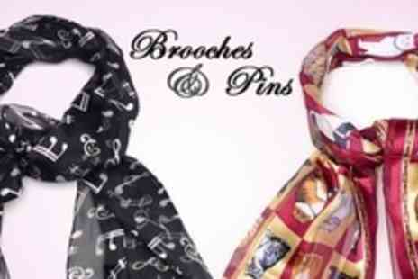 Brooches And Pins - Ladies Scarf in Choice of Prints - Save 70%