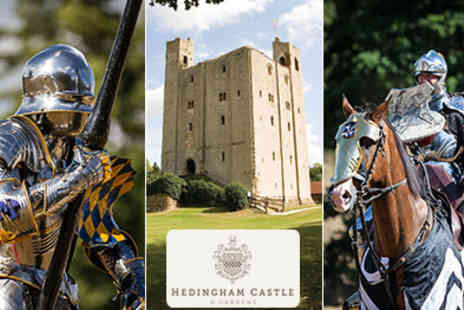 Hedingham Castle -  Medieval Fair & Jousting Tournament in Essex  Great Family Day - Save 50%
