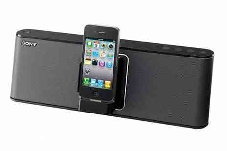 Hanaco - Sony RDPM 15IPB Rechargeable iPod/iPhone Speaker Dock - Save 53%