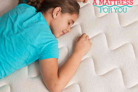 A Mattress For You - Single  Size Cooling Memory Foam Mattress with Delivery Included - Save 81%