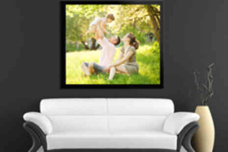 Red Art - Framed Personalised Photo Canvas - Save 59%