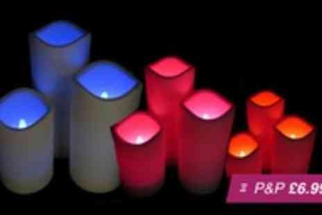 Betafresh BV - Three flameless LED candles with remote control - Save 83%