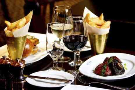 Reform Social and Grill - Two Course Lobster or Hanger Steak Meal With Wine For Two - Save 52%