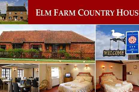Elm Farm Country House - Overnight Stay With Full English Breakfast - Save 37%