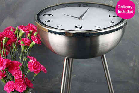Stylish Clock Table - Retro Clock Table with Delivery Included - Save 51%
