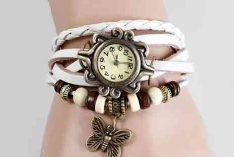 Flutterby Glam - Bohemian Bracelet Watch - Save 76%