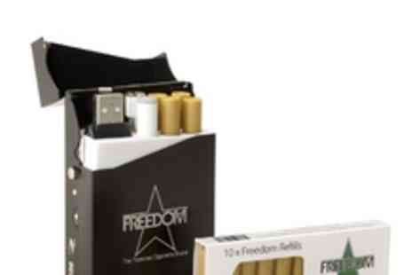 Freedom Cigarettes - An electronic cigarette bundle including refills equivalent to 300 cigarettes - Save 75%