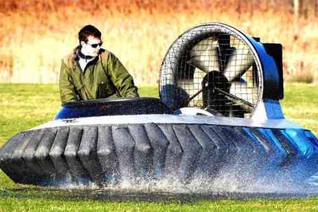 Hovercraft Adventures - 5 lap hovercraft experience  - Save 63%