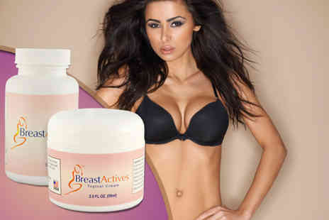 Beauty & Slimming - Natural breast enhancing kit including 60 tablets & breast cream - Save 52%