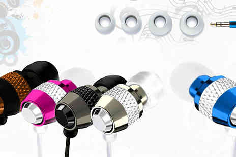 Trading Post - Noise Isolating Bullet Earphones available in 5 cool colours - Save 75%