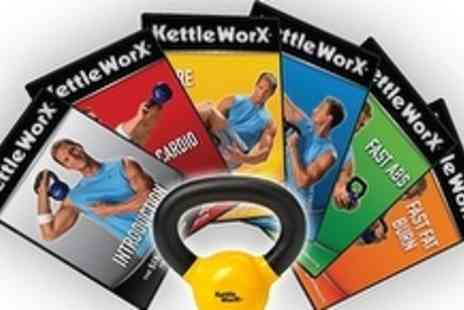 Kettleworx - Fitness DVD Package 5KG Kettlebell, 6 DVDs and diet guide - Save 61%
