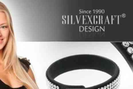 Silvexcraft - Two Bracelets Encrusted With Swarovski Crystals - Save 98%