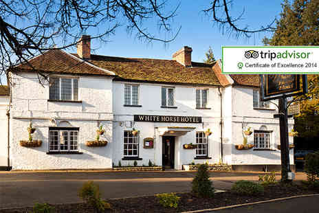 The White Horse Hotel - Overnight stay for 2 including a 3 course dinner, breakfast and a glass of sparkling wine each - Save 43%