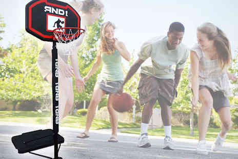 Giinii - AND 1 Zone Control Portable Basketball System - Save 50%