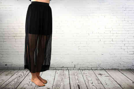 Suga Rush Love - Sheer chiffon maxi skirt  - Save 71%