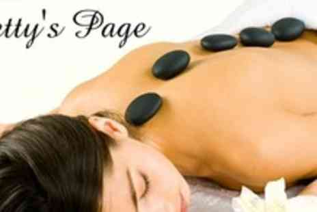 Bettys Page Boudoir - Choice of One Hour Massage Including Hot Stone Aromatherapy - Save 70%