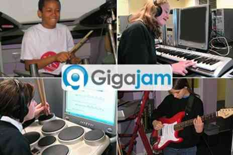 Gigajam Music School -  Online Music Lessons for the Guitar, Bass, Keyboard and Drums  - Save 50%