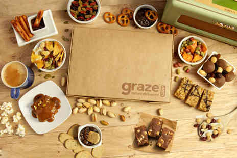 graze - £5 instead of £13.96 to Sign up to Graze with 4 snack boxes - Save 64%