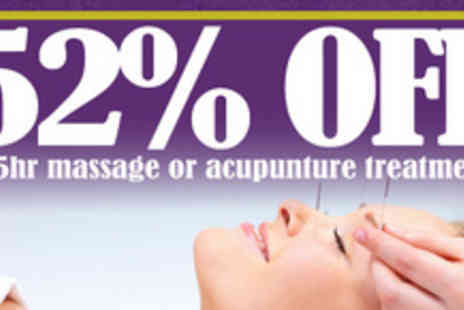 Acupuncture At Your Door - 90 Minute Massage in the Comfort of Your Own Home - Save 52%
