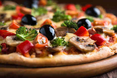 GABIOTAS - Starter and Pizza, Pasta or Chicken Main with Glass of Wine Each for Two - Save 52%