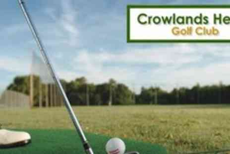 Crowlands Heath Golf Club - Day of Golf For Two Plus 35 Driving Range Balls Each - Save 63%