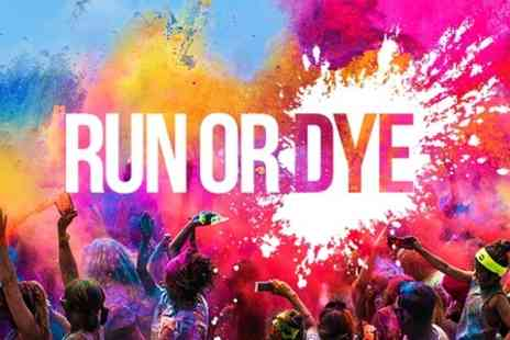 Run or Dye - Coloured Powder 5K Run Entry For One  - Save 40%