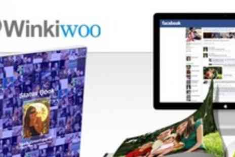 Winkiwoo - Three Personalised Photo Books Using Personal and Friends Facebook Images - Save 75%
