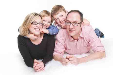 J. Photographers North East - Family Photoshoot With Three Prints - Save 91%