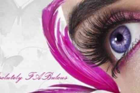 ABsolutely FABulous - Eye Lash Extensions With Eyebrow Shape and Tint - Save 60%