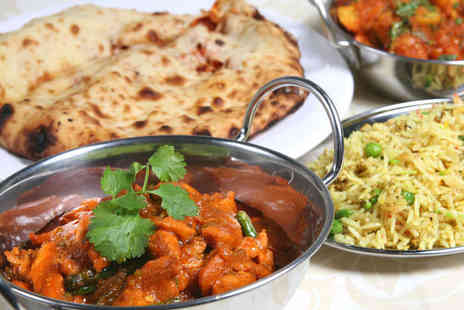 Nanpan - Starter and Main Each Rice or Naan to Share and Glass of Wine or Beer for Two - Save 53%