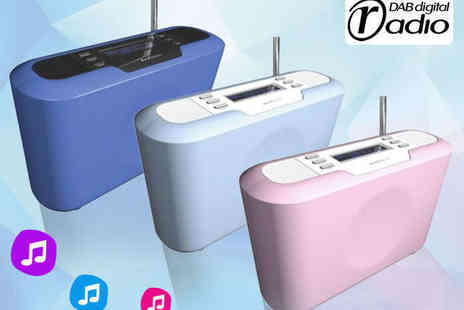 Velocity Outlet - Portable DAB/FM Radio in Choice of Three Colours - Save 60%