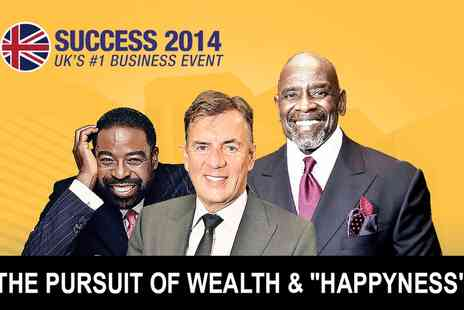 Success Summit - Gold ticket to see The Pursuit of Wealth and Happyness with Duncan Bannatyne - Save 30%