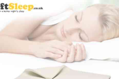 Soft Sleep - Super Deluxe memory foam mattress topper in a variety of sizes - Save 70%