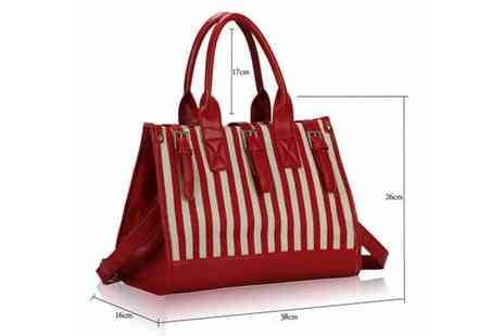 Global Essentials - Candy Stripe Satchel Bags - Save 60%