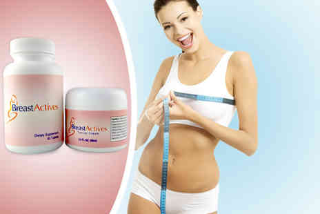 Beauty & Slimming - Breast enhancement kit including 60 supplements and cream - Save 52%