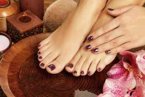 Scissorz Hair & Beauty - Shellac or Gelish Manicure or Pedicure - Save 50%